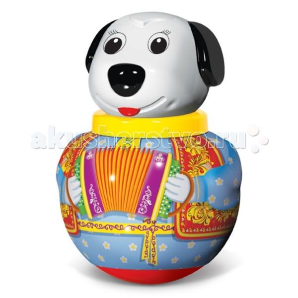 Развивающая игрушка Стеллар Неваляшка малая Собачка БимНеваляшка малая Собачка БимРазвивающая игрушка Стеллар Неваляшка малая Собачка Бим понравится вашему малышу. Внимание ребенка привлекут яркие цвета игрушки, ее вращение и звон. По мордочке ребенок изучит ее части - ушки, глазки, носик, - и будет их показывать сначала у игрушке, а потом у себя. Игра с неваляшкой развивает координацию движений, моторику ручек. Игрушка изготовлена из безопасных материалов. Мыть ее надо теплой мыльной водой, а затем хорошо ополаскивать чистой водой.  Размер: 12.5 х 16 см<br>