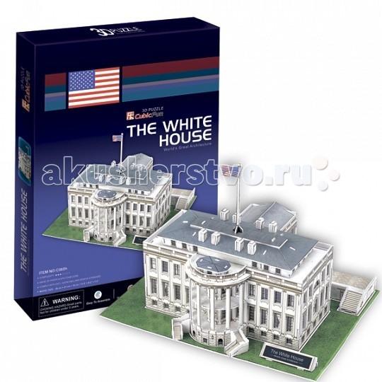 Конструктор CubicFun 3D пазл Белый дом (США)3D пазл Белый дом (США)CubicFun 3D пазл Белый дом (США).  В течение 200 лет Белый дом стоял как символ Президентства, правительства Соединенных Штатов, и американских людей. Его история началась, когда Президент Джордж Вашингтон подписал постановление конгресса в декабре 1790 года.  Уровень сложности - 3.  Функции: - помогает в развитии логики и творческих способностей ребенка - помогает в формировании мышления, речи, внимания, восприятия и воображения - развивает моторику рук - расширяет кругозор ребенка и стимулирует к познанию новой информации.  Практические характеристики: - обучающая, яркая и реалистичная модель - идеально и легко собирается без инструментов - увлекательный игровой процесс - тематический ассортимент - новый качественный материал (ламинированный пенокартон).<br>