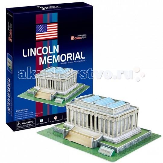 Конструктор CubicFun 3D пазл Мемориал Линкольна (США)