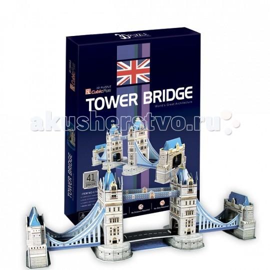Конструктор CubicFun 3D пазл Таэурский мост (Великобритания)3D пазл Таэурский мост (Великобритания)CubicFun 3D пазл Таэурский мост (Великобритания) - серия шедевры мировой архитектуры.   Тауэрский мост — разводной мост в центре Лондона над рекой Темзой, недалеко от Лондонского Тауэра. Иногда его путают с Лондонским мостом, расположенным выше по течению. Открыт в 1894 году. Также является одним из символов Британии.  Уровень сложности - 2.  Функции: - помогает в развитии логики и творческих способностей ребенка - помогает в формировании мышления, речи, внимания, восприятия и воображения - развивает моторику рук - расширяет кругозор ребенка и стимулирует к познанию новой информации.  Практические характеристики: - обучающая, яркая и реалистичная модель - идеально и легко собирается без инструментов - увлекательный игровой процесс - тематический ассортимент - новый качественный материал (ламинированный пенокартон).<br>