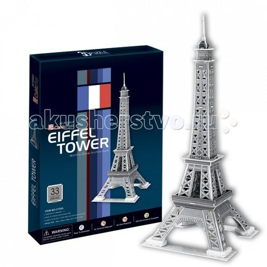 Конструктор CubicFun 3D пазл Эйфелева Башня 2 (Франция)3D пазл Эйфелева Башня 2 (Франция)CubicFun 3D пазл Эйфелева Башня 2 (Франция).  Башня является самой узнаваемой архитектурной достопримечательностью Парижа, имеет мировую известность как символ Франции. Названа в честь своего конструктора Густава Эйфеля.  Уровень сложности - 3.  Функции: - помогает в развитии логики и творческих способностей ребенка - помогает в формировании мышления, речи, внимания, восприятия и воображения - развивает моторику рук - расширяет кругозор ребенка и стимулирует к познанию новой информации.  Практические характеристики: - обучающая, яркая и реалистичная модель - идеально и легко собирается без инструментов - увлекательный игровой процесс - тематический ассортимент - новый качественный материал (ламинированный пенокартон).<br>
