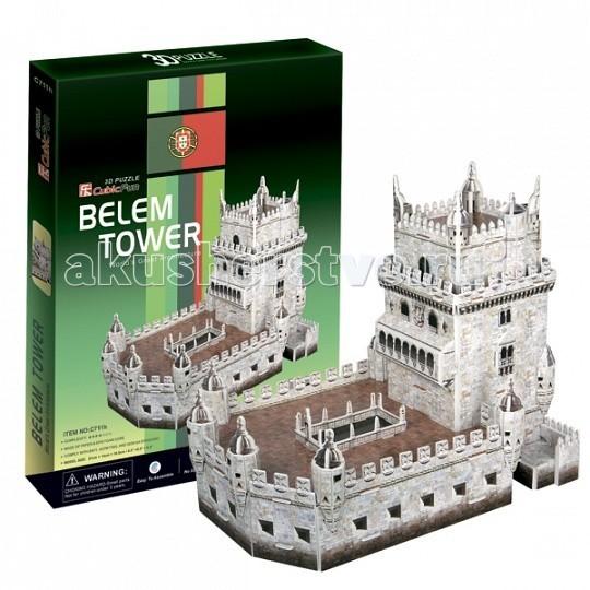 Конструктор CubicFun 3D пазл Башня Белен (Португалия)3D пазл Башня Белен (Португалия)CubicFun 3D пазл Башня Белен (Португалия).  Торре де Белем, что в переводе означает Башня Белема, расположен на правом берегу реки Тежу, в районе Белем Лиссабона, столице Португалии.   Построенный в эпоху Великих Открытий, он являлся одним из основных звеньев защиты столицы Португалии как от пиратов, так и от возможных атак соседних государств. Для многих моряков того времени замок был последним клочком родной земли, который они видели перед многодневным морским переходом.   В наши дни замок стал эмблемой Лиссабона и Португалии, а для коренных жителей - символом былого могущества Португалии на суше и на море.  Уровень сложности - 2.  Функции: - помогает в развитии логики и творческих способностей ребенка - помогает в формировании мышления, речи, внимания, восприятия и воображения - развивает моторику рук - расширяет кругозор ребенка и стимулирует к познанию новой информации.  Практические характеристики: - обучающая, яркая и реалистичная модель - идеально и легко собирается без инструментов - увлекательный игровой процесс - тематический ассортимент - новый качественный материал (ламинированный пенокартон).<br>
