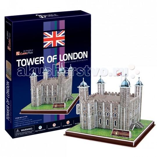 Конструктор CubicFun 3D пазл Лондонский Тауэр (Великобритания)3D пазл Лондонский Тауэр (Великобритания)CubicFun 3D пазл Лондонский Тауэр (Великобритания).  Лондонский Тауэр — крепость, возведённая на северном берегу реки Темза, исторический центр города Лондон.  Одно из старейших исторических сооружений Великобритании, долгое время служившее резиденцией английских монархов.  Уровень сложности - 4.  Функции: - помогает в развитии логики и творческих способностей ребенка - помогает в формировании мышления, речи, внимания, восприятия и воображения - развивает моторику рук - расширяет кругозор ребенка и стимулирует к познанию новой информации.  Практические характеристики: - обучающая, яркая и реалистичная модель - идеально и легко собирается без инструментов - увлекательный игровой процесс - тематический ассортимент - новый качественный материал (ламинированный пенокартон).<br>