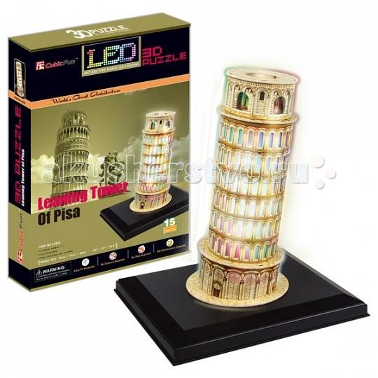 Конструктор CubicFun 3D пазл Пизанская башня с иллюминацией (Италия)3D пазл Пизанская башня с иллюминацией (Италия)CubicFun 3D пазл Пизанская башня с иллюминацией (Италия).  Пизанская башня – это колокольня Собора в городе Пиза.  Его постройка началась в августе 1173 года и продолжалась (с двумя длинными прерываниями) в течение приблизительно 200 лет, точно следуя оригинальному проекту, архитектор которого все еще неизвестен.  Уровень сложности - 4.  Функции: - помогает в развитии логики и творческих способностей ребенка - помогает в формировании мышления, речи, внимания, восприятия и воображения - развивает моторику рук - расширяет кругозор ребенка и стимулирует к познанию новой информации.  Практические характеристики: - обучающая, яркая и реалистичная модель - идеально и легко собирается без инструментов - увлекательный игровой процесс - тематический ассортимент - новый качественный материал (ламинированный пенокартон).<br>