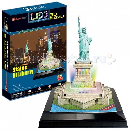 CubicFun 3D пазл Статуя Свободы с иллюминацией (США)