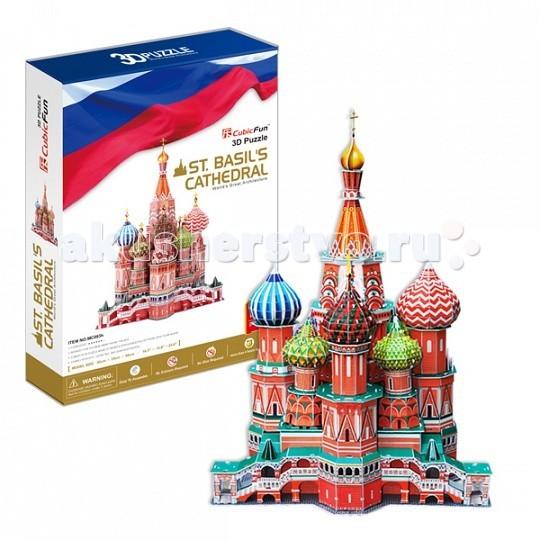 Настольная игра Собор Василия Блаженного (Россия). 3D пазл