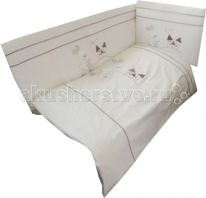 Комплект для кроватки Папитто Зайка моя (6 предметов)