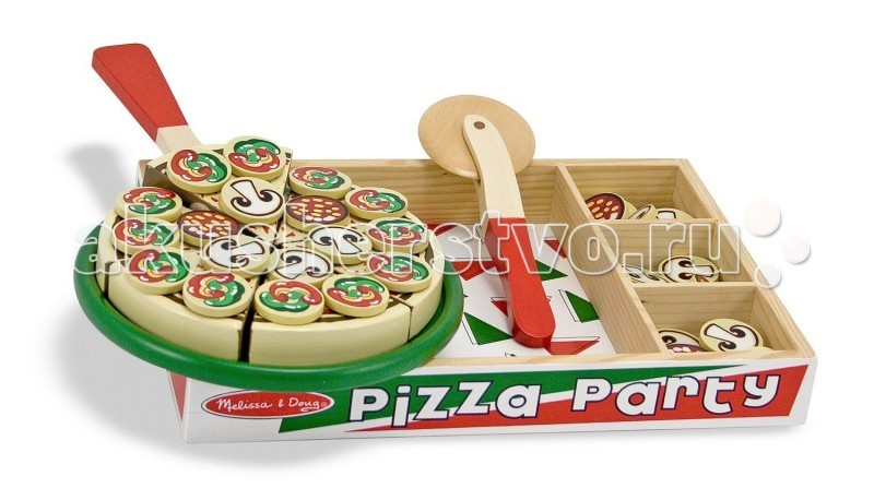 Деревянная игрушка Melissa & Doug Готовь и играй Вечеринка с пиццей