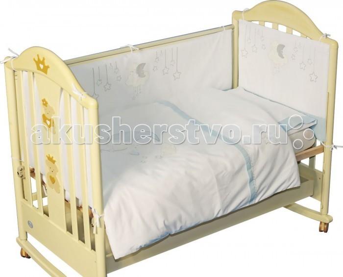 Комплект для кроватки Папитто Мишутка звездочет (6 предметов)