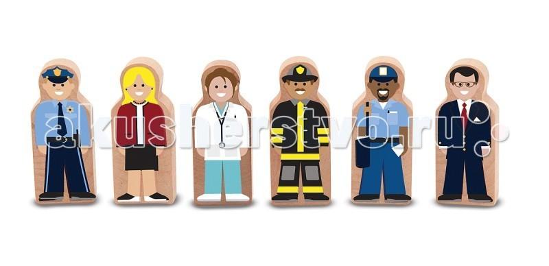 Деревянная игрушка Melissa & Doug Деревянный мир Профессии