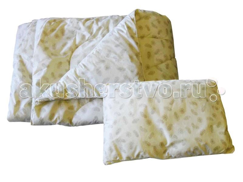 Одеяло Папитто + подушка (синтетический заменитель лебяжего пуха)