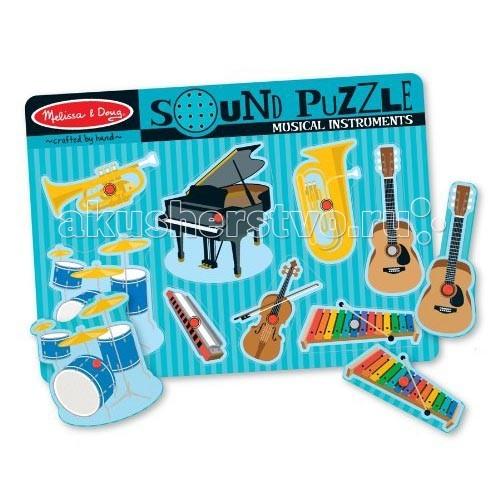 Настольная игра Музыкальные инструменты. Звуковые пазлы