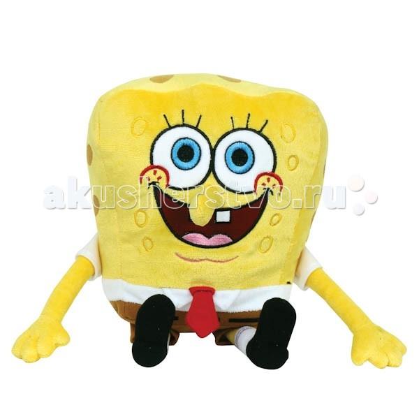 Мягкая игрушка Мульти-пульти Губка Боб 20 смГубка Боб 20 смМягкая игрушка Мульти-пульти Губка Боб озвученная - популярный американский мультсериал, покоривший сердца российских телезрителей.  Именно из этого персонажа представители бренда «Мульти-Пульти» создали мягкую игрушку для малышей. Спанч Боб такой же, как в мультфильме — мягкий, желтый, квадратный и в своих неизменных коричневых штанах.  Если ему нажать на животик, он будет произносить различные фразы из мультика: «Мы ловим еду», «У нас есть для тебя сачок! Хочешь с нами?», «Жизнь прекрасна!».  Размеры: 20 см<br>