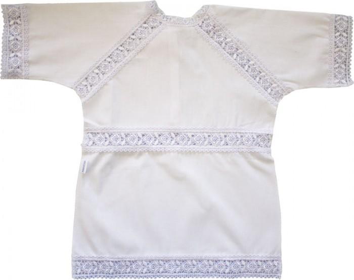 Папитто Крестильная рубашечка с гипюромКрестильная рубашечка с гипюромКрестильная рубашечка с гипюром Папитто  Состав: Хлопок 100% - микрошелк<br>
