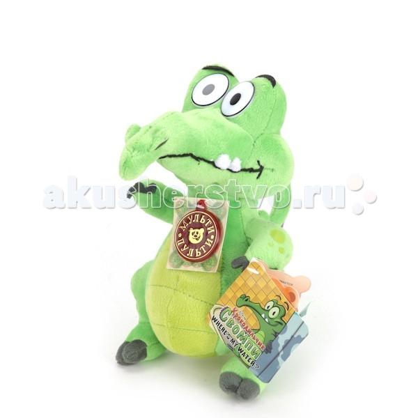 Мягкая игрушка Мульти-пульти Крокодильчик Свомпи 20 смКрокодильчик Свомпи 20 смМягкая игрушка Мульти-пульти Крокодильчик Свомпи — известный чистюля! Он просто обожает принимать ванную и мыться под душем, несмотря на то, что живет он в канализации под городом! Свомпи — главный герой мультиков и игр о приключениях находчивого крокодила.   Особенности: Мягкая игрушка, изображающего этого персонажа, полностью повторяет его облик! Все детали очень качественно сшиты.  Ротик и брови крокодильчика вышиты.  Текстильный материал, из которого сделана игрушка, очень мягок и приятен на ощупь.  Крокодил оснащен звуковым чипом (русскоязычный) и знает 7 фраз.  Размеры: 20 см<br>