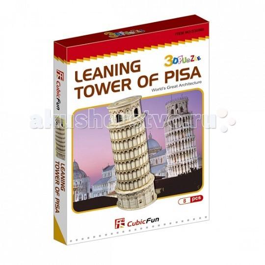 Конструктор CubicFun 3D пазл Пизанская башня (Италия) мини серия3D пазл Пизанская башня (Италия) мини серияCubicFun 3D пазл Пизанская башня (Италия) мини серия.  Пизанская башня – это колокольня Собора в городе Пиза. Его постройка началась в августе 1173 года и продолжалась (с двумя длинными перерывами) в течение приблизительно 200 лет, точно следуя оригинальному проекту, архитектор которого все еще неизвестен.  Уровень сложности - 2.  Функции: - помогает в развитии логики и творческих способностей ребенка - помогает в формировании мышления, речи, внимания, восприятия и воображения - развивает моторику рук - расширяет кругозор ребенка и стимулирует к познанию новой информации.  Практические характеристики: - обучающая, яркая и реалистичная модель - идеально и легко собирается без инструментов - увлекательный игровой процесс - тематический ассортимент - новый качественный материал (ламинированный пенокартон).<br>