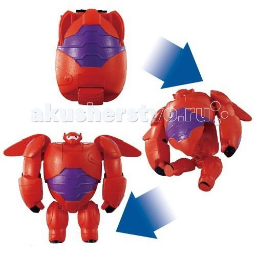 EggStars Яйцо-трансформер Бэймакс красныйЯйцо-трансформер Бэймакс красныйЯйцо-трансформер Бэймакс красный.  Красный Бэймакс - персонаж мультфильма Город Героев. Сначала Бэймакс был просто милым и забавным медицинским роботом, но Хиро преобразовал его в мощную боевую машину! Красный Бэймакс - незаменимый союзник в борьбе со злом, он может летать, а одно из самых грозных его орудий - знаменитый стреляющий кулак!  EggStars - игрушка-трансформер, выполненная в виде яйца, которое превращается в одного из популярных героев мультфильма.  Всего несколько движений, и пластиковое яйцо превратится в робота!   Размеры EggStars Красный Бэймакс в разобранном состоянии: 5 х 8 х 17 см<br>