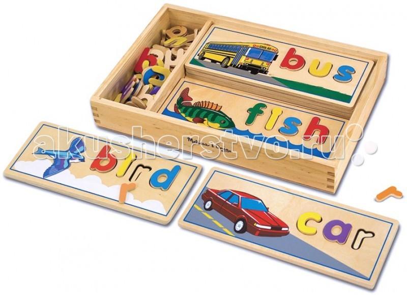 Деревянная игрушка Melissa & Doug Классические игрушки Подбор букв по картинкам 2014