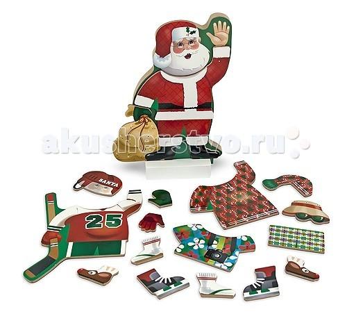 Деревянная игрушка Melissa & Doug Магнитные игры Переодень Санту 2014