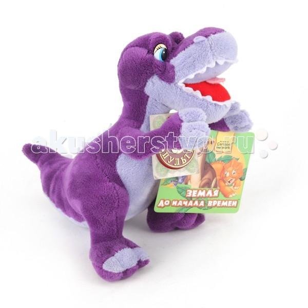 Мягкая игрушка Мульти-пульти Динозавр зубастик 22 смДинозавр зубастик 22 смМягкая игрушка Мульти-пульти Динозавр зубастик озвученный, скажет вашему малышу 4 фразы и споет замечательную песенку! С этим очаровашкой ребенку никогда не будет скучно!   Игрушка развивает слуховое восприятие и моторику рук.   Размеры: 22 см<br>