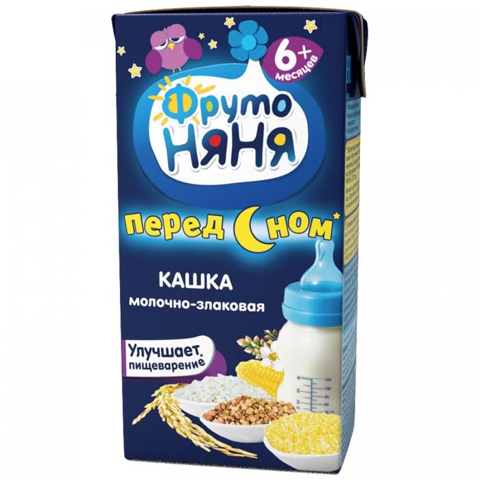 ФрутоНяня Молочная готовая молочно-злаковая каша жидкая 200 гр