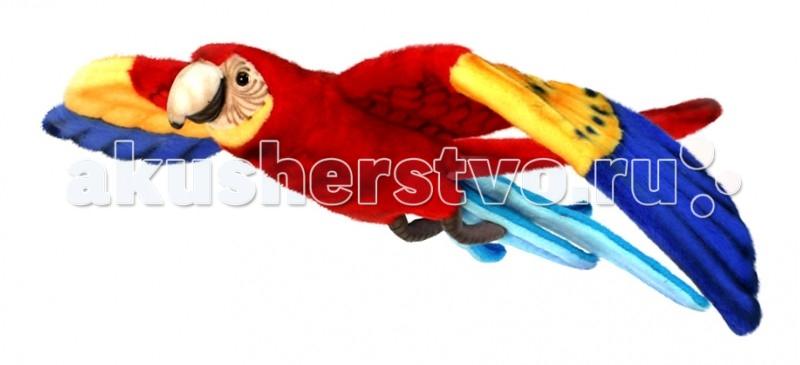Мягкая игрушка Hansa Попугай Ара красный летящий 76 смПопугай Ара красный летящий 76 смПопугай Ара красный летящий, 76 см.  Hansa - мягкие игрушки высокой степени реалистичности. Это не просто обычные мягкие игрушки, а тщательно и с любовью скопированные образы конкретных животных, выполненные с учетом всех особенностей  каждой конкретной породы, с тонкой проработкой деталей окраса, пропорций и типичных поз каждой особи. Каждое животное Hansa – это частичка души авторов, дизайнеров, которые вручную создают каждую игрушку.  Игрушки Ханса изготовлены из искусственного меха (очень приятного на ощупь), внутри имеют титановый каркас. Наличие каркаса позволяет изменять положение лап и туловища, а также поворачивать голову. Игрушки полностью копируют оригинал и могут быть выполнены в натуральную величину. На крупно габаритных игрушках (ослик, лошадка и проч., размером от 1м) можно сидеть верхом. Благодаря прочному каркасу, они выдерживают вес до 65-70кг.  Компания Hansa была основана в 1972 году на Филиппинах мистером Хансом Акстельмом и в прошлом году отметила свой 40 летний юбилей. 7 мировыч обществ охраны природы признали мягкие игрушки фирмы Ханса самыми натуралистичными моделями животных . Мягкие игрушки Ханса:  абсолютно реалистичные жирафы, слоны, коалы и медведи, изготовленные из экологически чистых материалов, сертифицированные как детские игрушки, могут так же стать великолепным украшением любого интерьера – от оформления комнаты до торгового зала, офиса, ресторана, шоу-программы или праздничной вечеринки.  Игрушки HANSA идеальны для  модных интерьеров в африканском или японском стиле. Благодаря своей реалистичности игрушки Hansa имеют огромное природоохранное значение - они позволяют любоваться дикими животными, сохраняя им жизнь. Отдельная линия анимированных  декоративных композиций дает возможность создавать эффектные экспозиции для выставок, презентаций, витрин и проч. Мягкие анимированные игрушки нередко делаются на заказ, для конкретных интерьеров и событи