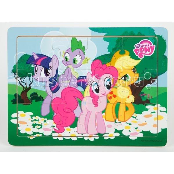 Деревянная игрушка Играем вместе Пазл My Little Pony PUZ-MLP-12