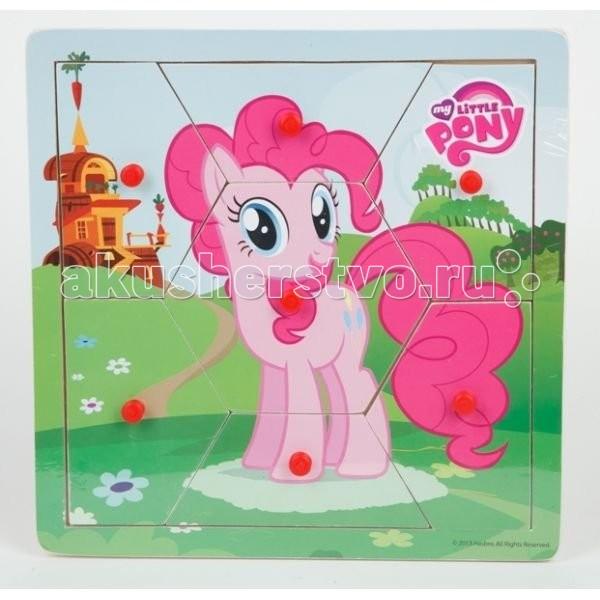 Деревянная игрушка Играем вместе Пазл My Little Pony PUZ-MLP-07