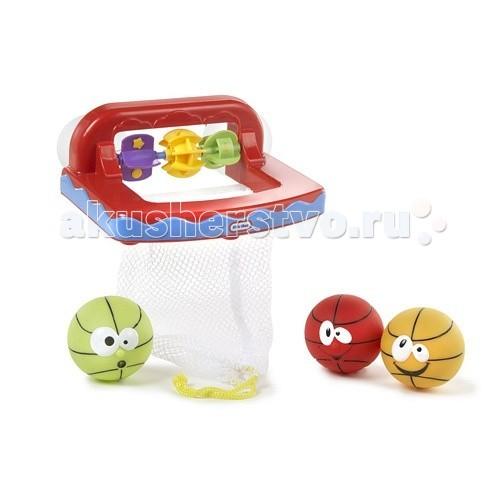 Little Tikes Игровой набор БаскетболИгровой набор БаскетболИгрушка игровой набор Баскетбол  Набор состоит из корзины с сеткой (с помощью присосок она легко крепится к стене ванной комнаты) и трех мячиков.  Малышу не только необходимо попасть в цель, но и заработать как можно больше очков.  Для этого на одной из сторон корзины находится счетчик.  Когда мячик летит в корзину, он должен коснуться счетчика и повернуть его.   В эту игру малыши могут играть вместе с родителями.   Игрушка способствует развитию моторики и координации.<br>