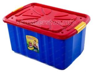 Полимербыт Ящик для игрушек на колёсахЯщик для игрушек на колёсахОсобенности:  Поможет вашему малышу привыкнуть к порядку. Безопасен даже для самых активных малышей. Материал: нетоксичный пластик. Габариты: 600x400x300 мм<br>
