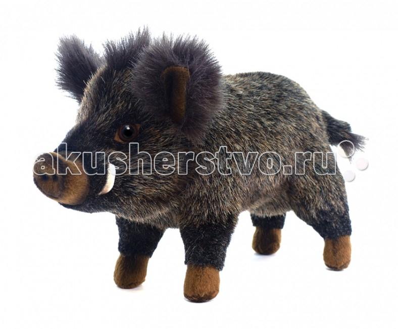 Мягкая игрушка Hansa Кабан 29 смКабан 29 смКабан, 29 см.  Игрушки Ханса изготовлены из искусственного меха очень приятного на ощупь, внутри имеют титановый каркас. Наличие каркаса позволяет изменять положение лап и туловища, а также поворачивать голову. Игрушки полностью копируют оригинал и могут быть выполнены в натуральную величину. На крупно габаритных игрушках ослик, лошадка и проч., размером от 1м можно сидеть верхом.   Благодаря прочному каркасу, они выдерживают вес до 65-70кг. Компания Hansa была основана в 1972 году на Филиппинах мистером Хансом Акстельмом и в прошлом году отметила свой 40 летний юбилей. 7 мировыч обществ охраны природы признали мягкие игрушки фирмы Ханса самыми натуралистичными моделями животных .  Мягкие игрушки Ханса: абсолютно реалистичные жирафы, слоны, коалы и медведи, изготовленные из экологически чистых материалов, сертифицированные как детские игрушки, могут так же стать великолепным украшением любого интерьера – от оформления комнаты до торгового зала, офиса, ресторана, шоу-программы или праздничной вечеринки.  Игрушки HANSA идеальны для модных интерьеров в африканском или японском стиле. Благодаря своей реалистичности игрушки Hansa имеют огромное природоохранное значение - они позволяют любоваться дикими животными, сохраняя им жизнь. Отдельная линия анимированных декоративных композиций дает возможность создавать эффектные экспозиции для выставок, презентаций, витрин и проч. Мягкие анимированные игрушки нередко делаются на заказ, для конкретных интерьеров и событий. В ассортименте hansa игрушки более 3000 наименований: от райских птичек и мышей 5 см до слонов и жирафов 4,5 м.<br>