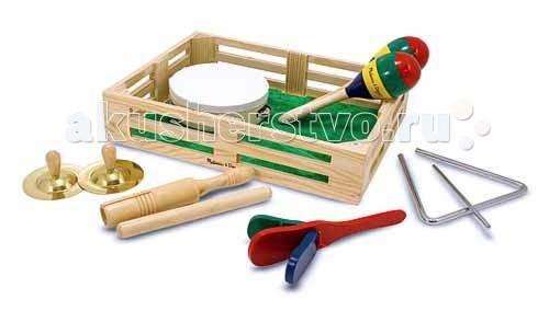Музыкальная игрушка Melissa & Doug Музыкальные инструменты в коробке