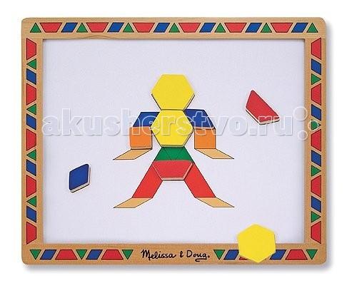 Деревянная игрушка Melissa & Doug Набор магнитных деталей Придумай свой рисунок