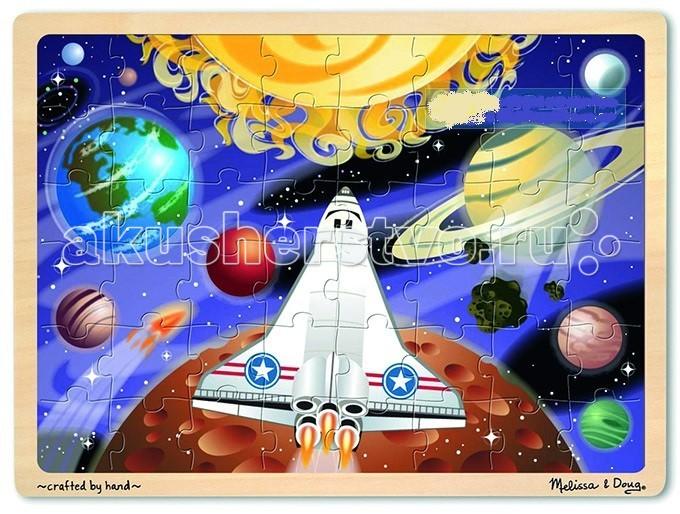 Melissa &amp; Doug Пазл перемешай и собирай КосмосПазл перемешай и собирай КосмосMelissa & Doug Пазл перемешай и собирай Космос - красочный пазл будет увлекательным подарком вашему малышу.   Элементы головоломки уложены в прочный деревянный лоток и в собранном виде представляют собой картину с изображением загадочного космоса.<br>