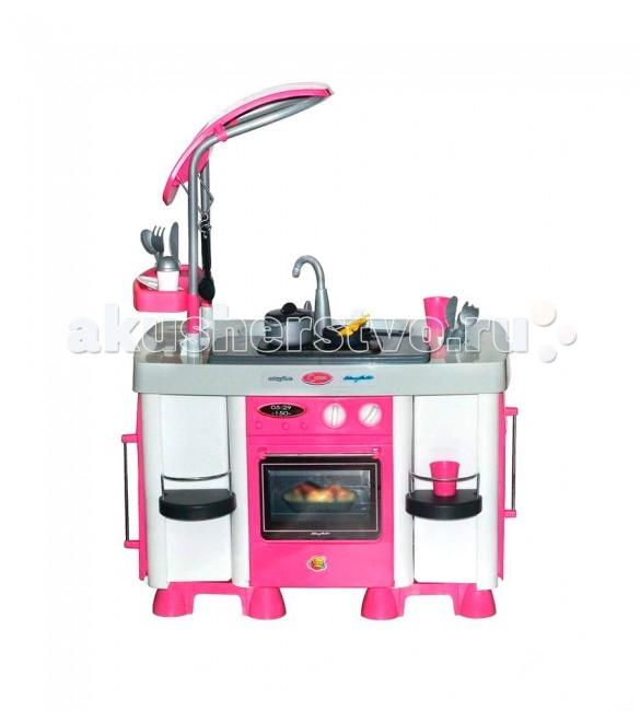 Coloma Кухонный модуль CarmenКухонный модуль CarmenColoma Кухонный модуль Carmen предоставляет замечательную возможность готовить всей семьей. Мама-на своей кухне, а дети- на своей. Подрастающая хозяйка сможет, подражая маме готовить пищу, стирать и гладить вещи любимых кукол, а так же наводить порядок в своем игрушечном царстве. Кухни от Coloma-замечательная игра,которая может перерасти в нечто большее- в любовь к кулинарии, в помощь взрослым. Эта кухня создана для серьезной ответственной хозяйки. Стиль выдержан в соответствии с веяниями моды и последних технологий самых настоящих кухонь для взрослых. Все продумано до мелочей-от крана до современной стильной вытяжки.   Шкафы, полки, духовка, плита, холодильник, посудомоечная машина-все легко можно использовать. Любой маме захочется прикоснуться к этой кухне, потому что в комплекте: сковорода, кастрюля, чашки, столовые приборы и многое другое.  Особенности: варочная панель с двумя конфорками. Данный модуль оборудован световыми и звуковыми эффектами. На панели расположено 4 кнопки. Две кнопки – включают конфорки (загораются красные лампочки). Две – для включения звука имитации работы вытяжки и проигрывания мелодий. посудомоечную машину со звуковыми эффектами. Реалистичность работы данного игрового элемента достигается за счет специального резервуара для воды, расположенного в дверке посудомоечной машины. После включения игрушки, вода разбрызгивается между двумя прозрачными стенками дверки и создается эффект реальной работы, а игрушечная посуда остается сухой.  модуль холодильника шкаф для хранения кухонной утвари игровые столовые принадлежности и аксессуары - батарейки AA- 6 шт. Рекомендуется для детей от 3 лет.  Испанский пластик-идеальное качество для детей.<br>