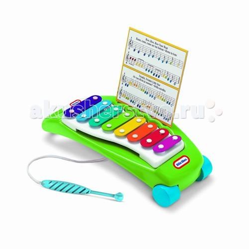 Музыкальная игрушка Little Tikes Ксилофон 627767Ксилофон 627767Игрушка Ксилофон 627767 - красочный инструмент, способный воспроизвести полную октаву звуков. Палочка для игры на ксилофоне прикреплена к нему шнурком, поэтому малышу не удастся ее потерять.   У ксилофона есть удобная ручка для переноски, что позволит малышу всегда носить его с собой.<br>