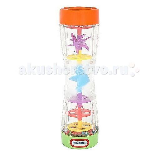 Развивающая игрушка Little Tikes Цветной дождь 634994Цветной дождь 634994Игрушка развивающая Цветной дождь 634994.   Переверните погремушку и разноцветные шарики будут смешиваться через спиральки.   - Удобная форма, не выскальзывает - Разноцветные шарики переворачиваются с треском - Занимательные колесики и спиральки  Батарейки не требуются.<br>
