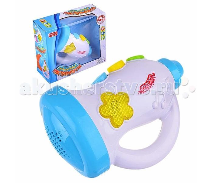 Музыкальная игрушка Zhorya Труба ZY208302Труба ZY208302Музыкальный инструмент Zhorya Труба - развивающая игрушка со световыми и звуковыми эффектами, поможет малышу развить его творческий потенциал. С помощью такой игрушки, можно не только слушать веселые мелодии, но и сыграть их самому, нужно лишь жать на кнопочки и дуть в мундштук.  Игрушка развивает мелкую моторику, тактильную чувствительность, зрительное восприятие, слух, память.<br>