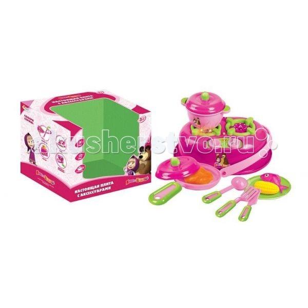 Играем вместе Кухонная плита Маша и медведь B156675-R1Кухонная плита Маша и медведь B156675-R1Играем вместе Кухонная плита Маша и медведь с посудой понравится вашей маленькой хозяйке, особенно если она любит мультик «Маша и Медведь». Готовить можно на маленькой сковороде, используя миниатюрные продукты из комплекта.  С этой игрой ваш ребёнок получит базовые знания о готовке продуктов, узнает, как правильно пользоваться плитой, и научится придумывать разнообразные блюда.  В комплекте: Плита из пластмассы Посуда и продукты из пластмассы Инструкция по использованию Работает от 2 батареек типа АА (входят в комплект)<br>