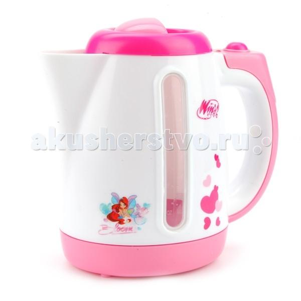 Играем вместе Чайник WinxЧайник WinxИграем вместе Чайник Winx, оформленный в стиле фей Winx станет прекрасным подарком для любой девочки и сделает любую ролевую игру ребенка еще реалистичнее и веселее.  Теперь ваша малышка сможет устроить со своими куколками настоящее чаепитие, а воду для чая вскипятит для нее игрушечный розовый чайничек.  Игрушка изготовлена из высококачественной нетоксичной пластмассой и обладает световыми и звуковыми функциями, благодаря которым кажется, что в чайничке на самом деле кипит вода.<br>