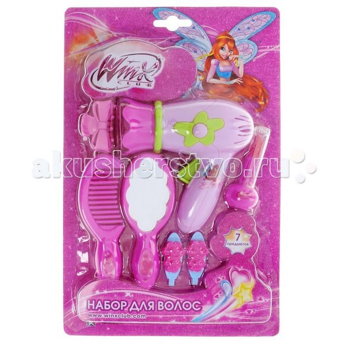 Играем вместе Набор для волос Winx (7 предметов)Набор для волос Winx (7 предметов)Играем вместе Набор для волос Winx (7 предметов) - это красивый и полезный набор для девочек от куколок Winx. Сделать модную и стильную прическу своим куклам теперь очень легко. Фен, расчески, заколки – в наборе есть все необходимое для создания уникального образа.   Играя с набором и создавая самые разные прически, ваша малышка получит массу положительных эмоций.<br>