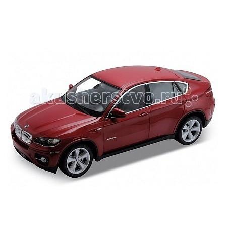 Welly Модель машины 1:18 BMW X6Модель машины 1:18 BMW X6Модель машины 1:18 BMW X6  Коллекционная модель машины масштаба 1:18 BMW X6.  Функции: открываются передние двери, капот, багажник, поворотом руля поворачиваются передние колеса.<br>
