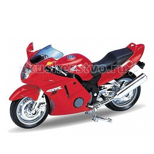 Welly Модель мотоцикла 1:18 Honda CBR1100 XXМодель мотоцикла 1:18 Honda CBR1100 XXМодель мотоцикла 1:18 Honda CBR1100 XX  Коллекционная модель мотоцикла масштаба 1:18 Honda CBR1100XX.<br>