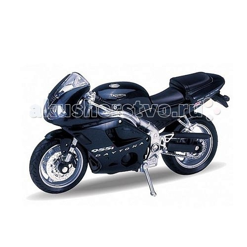 Welly Модель мотоцикла 1:18 Triumph Daitona 955IМодель мотоцикла 1:18 Triumph Daitona 955IМодель мотоцикла 1:18 Triumph Daitona 955I  Коллекционная модель мотоцикла масштаба 1:18 Triumph Daitona 955I.<br>