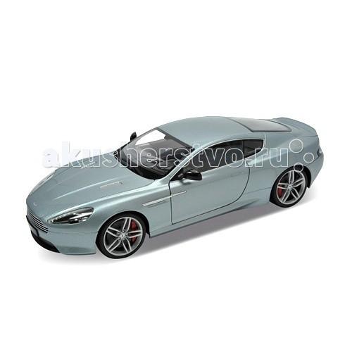 Welly Модель машины 1:18 Aston Martin DB9Модель машины 1:18 Aston Martin DB9Модель машины 1:18 Aston Martin DB9  Коллекционная модель машины масштаба 1:18 Aston Martin DB9.  Функции: открываются передние двери, капот, багажник, поворотом руля поворачиваются передние колеса.<br>