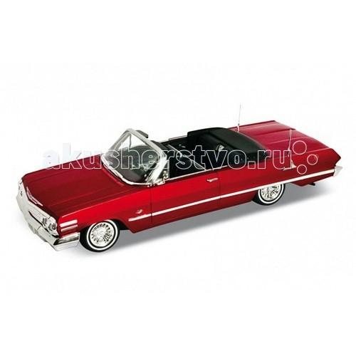 Welly Модель винтажной машины 1:24 Chevrolet Impala 1963Модель винтажной машины 1:24 Chevrolet Impala 1963Модель винтажной машины 1:24 Chevrolet Impala 1963  Коллекционная модель винтажной машины.   Функции: открываются передние двери, капот.<br>