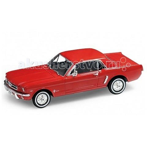 Welly Модель винтажной машины 1:24 Ford Mustang 1964Модель винтажной машины 1:24 Ford Mustang 1964Модель винтажной машины 1:24 Ford Mustang 1964  Коллекционная модель машины масштаба 1:24 Ford Mustang 1964.  Функции: открываются передние двери, капот.<br>