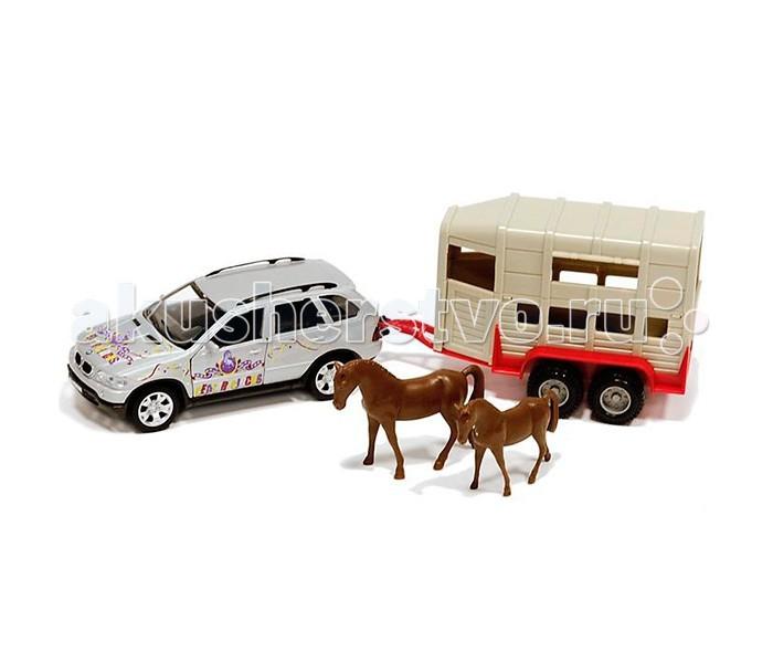 Welly Набор цирк Volvo XC90 1:24 с прицепомНабор цирк Volvo XC90 1:24 с прицепомНабор цирк Volvo XC90 1:24 с прицепом  В игровой набор Welly входят модель автомобиля BMW X5, выполненная в масштабе 1:24, фургон для животных, а также 2 фигурки лошадей.   Размер упаковки (д/ш/в): 8 х 35 х 13,5 см.  У машины и фургона открываются двери и вращаются колеса, а значит, сюжетно-ролевая игра станет еще более интересной и реалистичной!  Машинки всемирно известного бренда Welly известны подробной детализацией и отменным качеством исполнения. Используемые материалы прочные и долговечные, поэтому игрушка прослужит вам очень долго. Также стоит отметить, что модели Велли могут стать не только интересной, качественной игрушкой для детей, но и ценным экземпляром в автомобильной коллекции взрослых.<br>