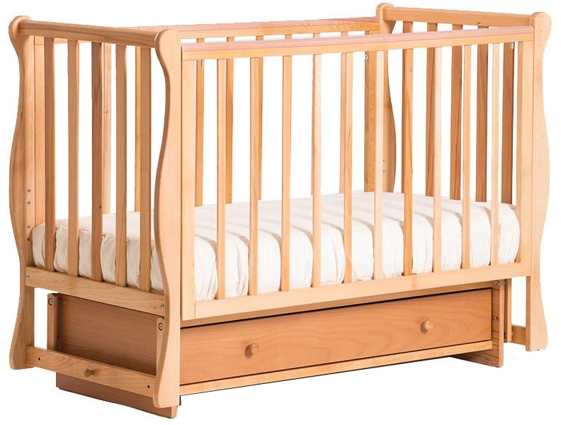 Детская кроватка Кубаньлесстрой БИ 40.2 Кубаночка-4 маятник поперечный