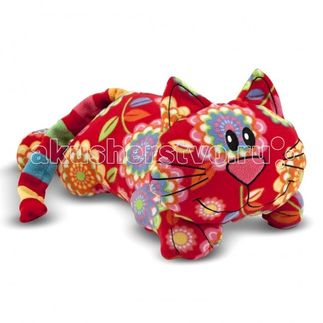 Мягкая игрушка Melissa &amp; Doug Кот ТобиКот ТобиМягкая игрушка Melissa & Doug Мягкая игрушка Кот Тоби -помимо того, что кот сочно малинового цвета, у него очаровательная улыбка, яркий полосатый хвостик, а туловище украшено большими сказочными цветами.  Такой необычный котенок станет настоящим другом Вашего малыша на долгие годы.   Игрушка сделана из ультрамягкого флиса.  Мягкая игрушка компании Melissa & Doug отличается высоким стандартом качества и безопасности детских товаров. Игрушка мастерски выполнена из материалов высочайшего качества.<br>